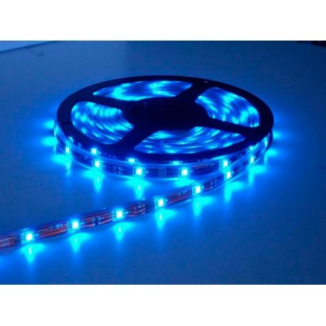 TIRA FLEXIBLE DE LUZ DE LED 1MT AZUL IMPERMEABLE