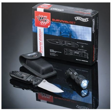 SET SURVIVAL WALTHER NAVAJA ST + LINTERNA LED RBL500