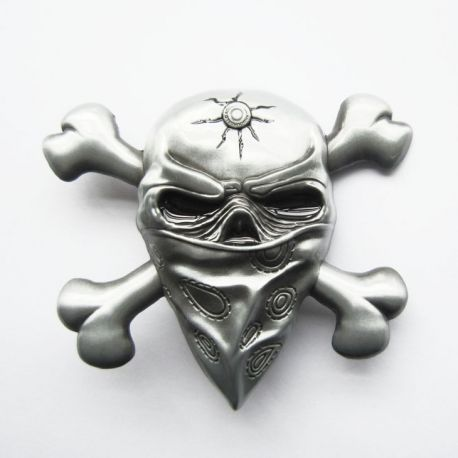 HEBILLA MASCARA SKULL AND BONES