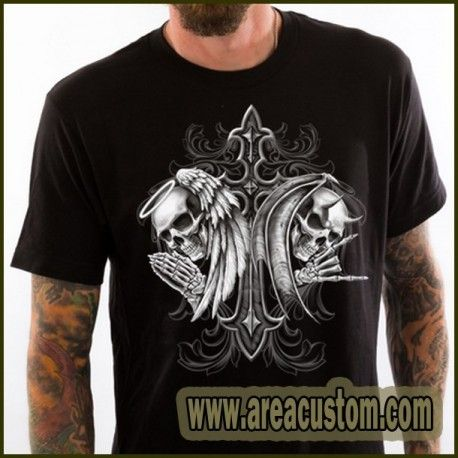 CAMISETA LETHAL THREAT ANGEL DEVIL SKULL