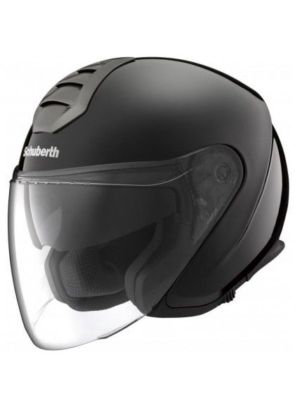 CASCO M1 SCHUBERTH JET BERLIN NEGRO BRILLO