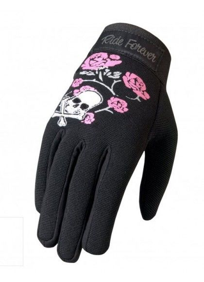 GUANTES SKULL Y ROSAS CHICAS MECHANIC HOT LEATHERS