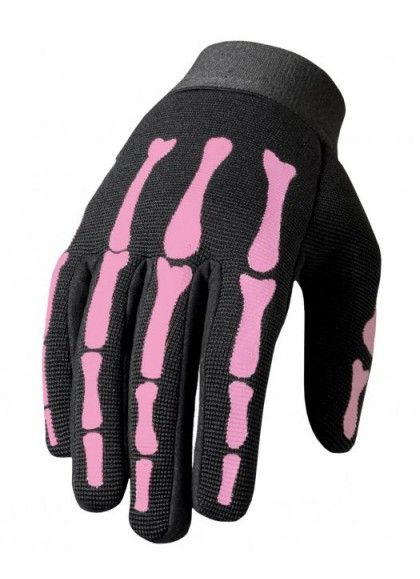 GUANTES PINK SKELETON CHICAS MECHANIC HOT LEATHERS