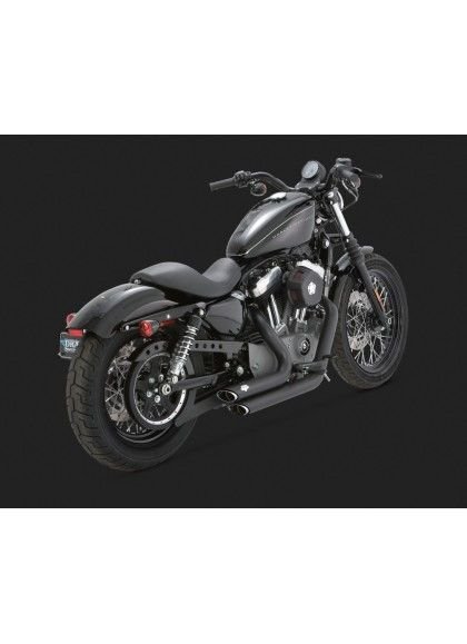 ESCAPE HARLEY DAVIDSON SPORTSTER '04-up SHORTSHOTS STAGGERED BLACK
