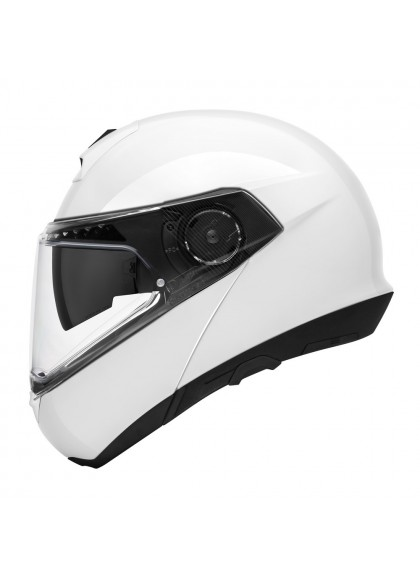 CASCO C4 BASIC SCHUBERTH MODULAR BLANCO BRILLO