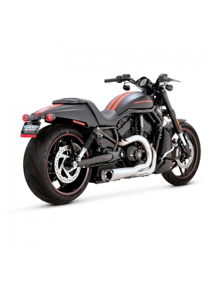 ESCAPE HD V-ROD COMPETITION SERIES 2-INTO-1 CHROME